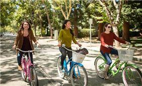 Girls Riding Around Town