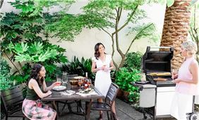 Girls in BBQ Area
