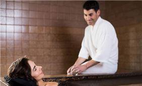Couples mud bath