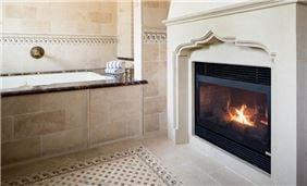 Splendido jacuzzi suite fireplace