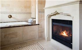 Interior Jacuzzi Suite Fireplace