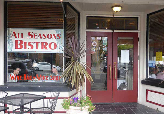 All Season Bistro in Calistoga