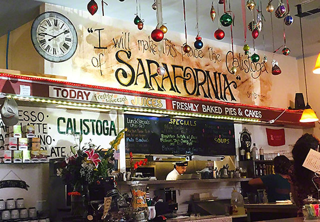 Cafe Sarafornia in Calistoga