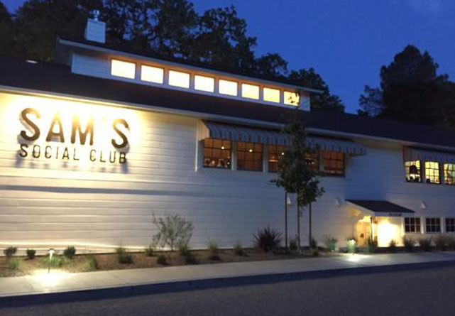 Sams Social Club in Calistoga