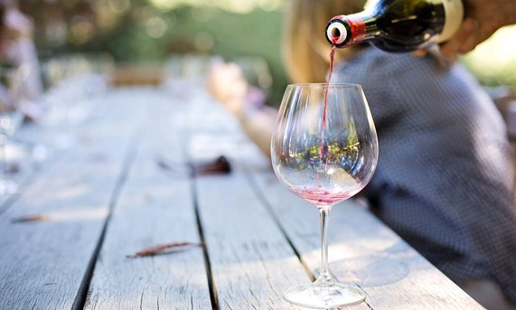 Wine Tasting at Resort, California