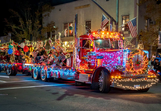 Calistoga Holiday Faire and Lighted Tractor Parade