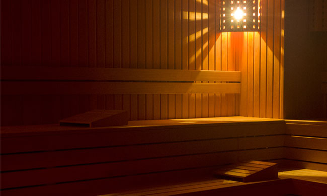 Dry Saunas at Roman Spa Calistoga