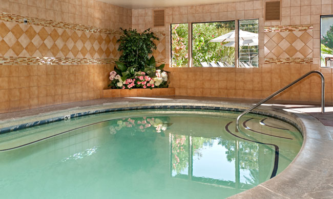 Indoor Swimming- Pool in Roman Spa Hot Springs Resort California