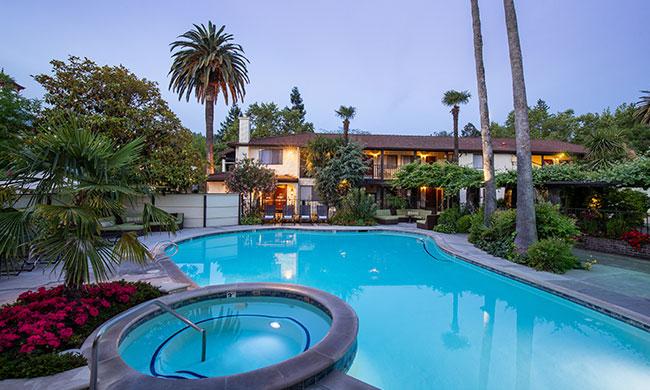 Outdoor Swimming Pool at Roman Spa California