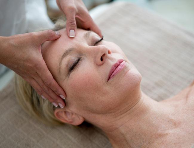 Facial Massage at Calistoga Resort