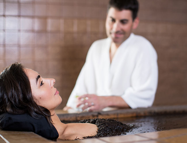 Mud Water Massage at Calistoga Resort