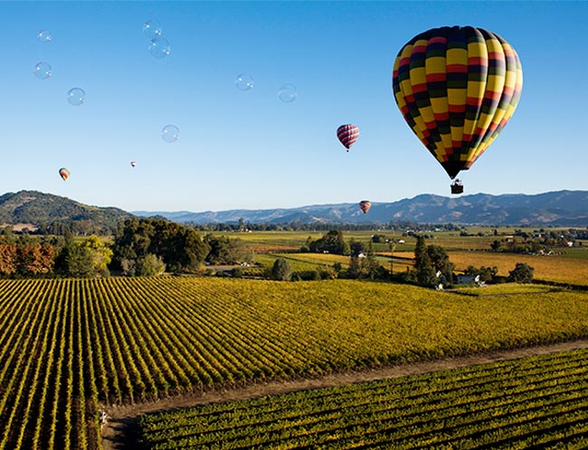 Hot Air Balloon Rides in California